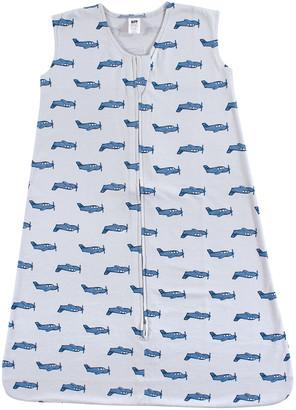 Hudson Baby Boys' Infant Sleeping Sacks Wingman - Blue Plane Cotton Wearable Blanket - Newborn & Infant