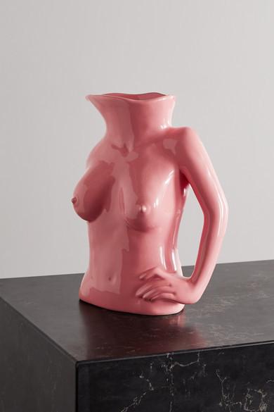 Anissa Kermiche Jugs Jug Ceramic Vase - Pink