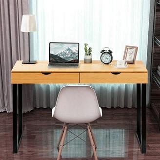 Latitude Run Simples Computer Table Laptop Office Desk Study Table Color: Oak