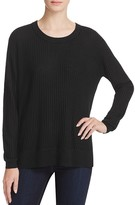 H. ONE Waffle Stitch Asymmetric Sweater