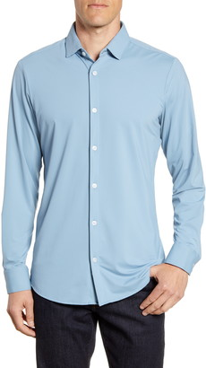 Mizzen+Main Bryant Trim Fit Button-Up Performance Sport Shirt