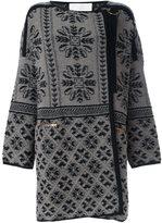 Chloé jacquard coat - women - Cashmere/Wool - S