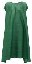 Pleats Please Issey Miyake Drawstring-waist Technical-pleated Midi Dress - Womens - Green