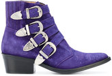 Toga Pulla stitch detail buckled boots