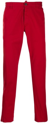 DSQUARED2 Red Straight Leg Trousers
