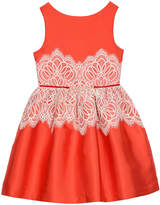 Badgley Mischka Belle By Lace-Overlay Dress, Girls' Size 7-14