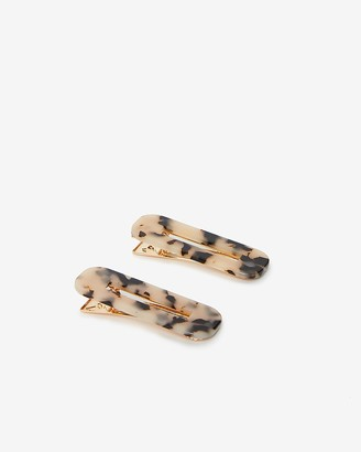Express Two Pack Tortoise Print Barrettes