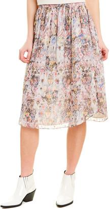 IRO Peony Silk-Blend Skirt