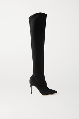 Jennifer Chamandi Alessandro 105 Suede Over-the-knee Boots - Black