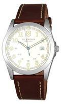 Victorinox Leather Strap Quartz Watch