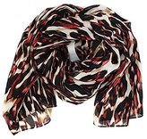 Calvin Klein Women's Abstract Watercolor Scarf Red