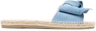 Manebi Hamptons suede-knot sandals