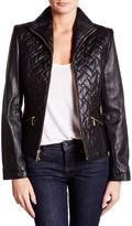 Cole Haan Zip Front Genuine Leather Jacket