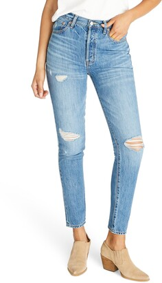Atica Alex Ripped High Waist Ankle Slim Fit Jeans