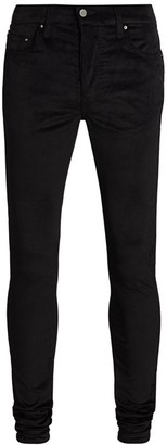 Amiri Velour Skinny Stack Pants