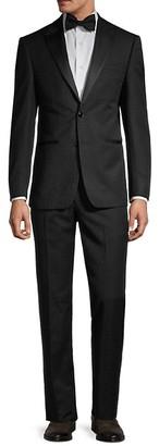 Calvin Klein Slim-Fit Tonal Leopard-Print Tuxedo Suit