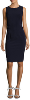 Badgley Mischka Buckle Day V-Neck Sheath Dress