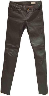 Closed Khaki Leather Jeans