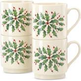 Lenox Holiday Stackable Mugs, Set of 4