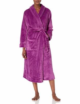 Aria Women's Solid Textured Plush Chenille Wrap Robe