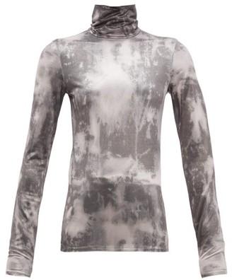 Acne Studios Eryn Tie-dye Jersey Top - Black Multi