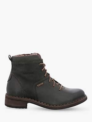 Josef Seibel Selena 50 Waterproof Leather Ankle Boots, Tanne
