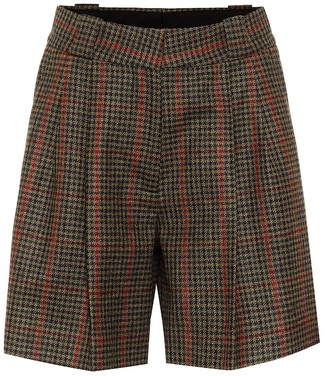 BLAZÉ MILANO Fell checked wool shorts