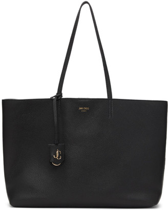 Jimmy Choo Black Grained Nine2Five Tote