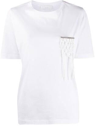 Fabiana Filippi macrame pocket T-shirt
