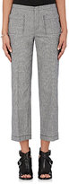 ATM Anthony Thomas Melillo Women's Donegal-Effect Cotton-Blend Crop Pants-GREY