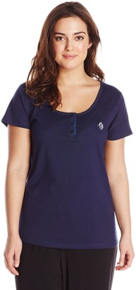 Tommy Hilfiger Plus Size Women's Pajama Top with TH Logo