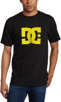 DC Men's Star Short Sleeve T-Shirt, Black/Grey