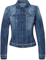SEVEN FOR ALL MANKIND Washed Blue Denim Jacket by Seven for All Mankind