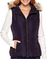 Liz Claiborne Faux-Fur-Trim Quilted Vest