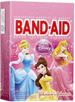Safety First Band-Aid Bandages - Princess - 20 ct
