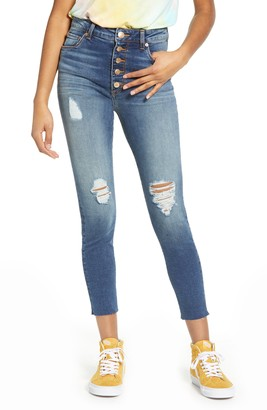 STS Blue Ellie Ripped High Waist Crop Skinny Jeans