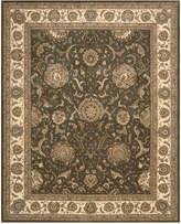 "Nourison Area Rug, Wool & Silk 2000 2206 Slate 8'6"" x 11'6"