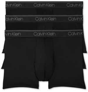 Calvin Klein Men's 3-Pack Microfiber Stretch Low-Rise Trunks