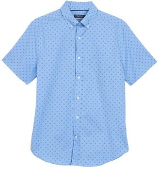 Nautica Geometric Print Short Sleeve Shirt