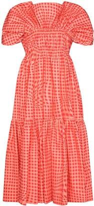 Molly Goddard x Browns 50 Bo Brigham gingham-print midi dress