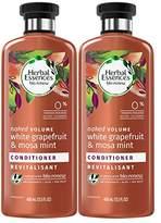 Herbal Essences Biorenew White Grapefruit & Mosa Mint Naked Volume Conditioner, 13.5 FL OZ (2 Count)