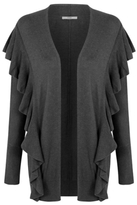 George Ruffled Detail Open Front Cardigan