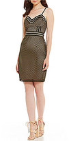 GUESS Acacia Netted Mesh Sheath Dress