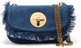 See by Chloe Lois Fringed Denim Shoulder Bag - Blue
