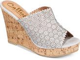 Callisto Lovie Embellished Wedge Sandals
