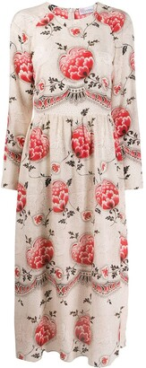 RED Valentino Floral Dotwork printed dress