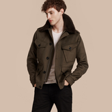 Burberry Shearling Topcollar Cashmere Field Jacket