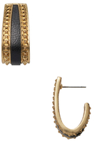 House Of Harlow Pyramid & Leather Drop Earrings