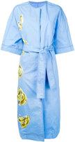 MSGM collarless open coat - women - Cotton - 44