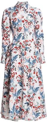 Erdem Josianne Bird Floral Shirtdress